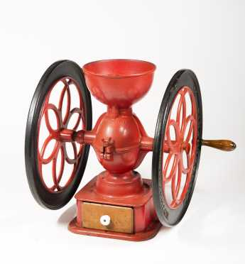 "Large ""Enterprise"" Cast Iron Coffee Grinder"