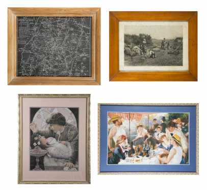Four Framed Prints