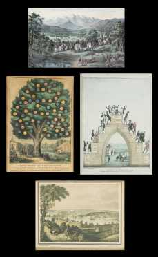Lot of Four Currier and Ives and Other Prints