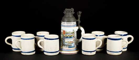 Lot of Pottery Mugs and Stein