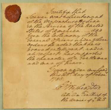 Important George Washington Hand Written Letter- 1785