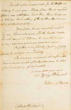 Revolutionary War Letter, General John Stark to Colonel Willett
