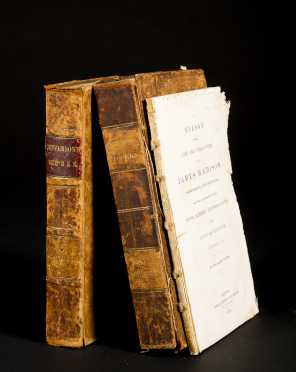 "Thomas Jefferson ""Memoir, Correspondence and Miscellanies"" Vol. II & III and James Madison ""Eulogy on Life and Character"""