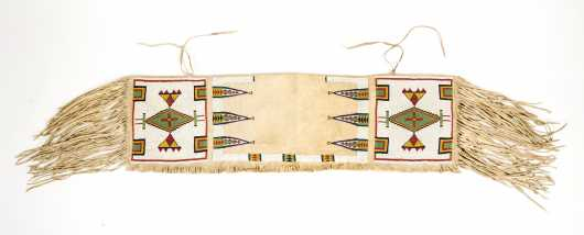 "Native American ""Sioux"" Beaded Saddle Bags"
