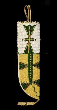 Native American Bead Decorated Knife Sheath