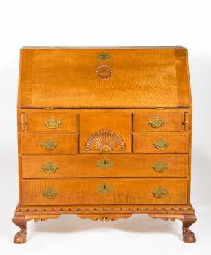 Donald Dunlap Reproduction Tiger Maple Desk