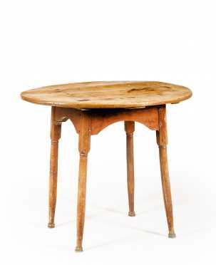 Four Way Splay Oval Top Tea Table