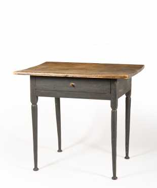New England Painted One Drawer Tavern Table