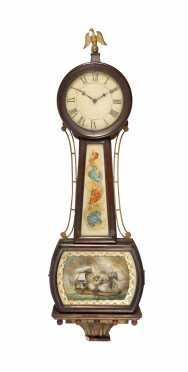 New England Federal Banjo Clock