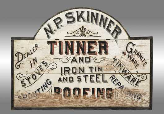 N.P. Skinner Tinner and Roofing Sign