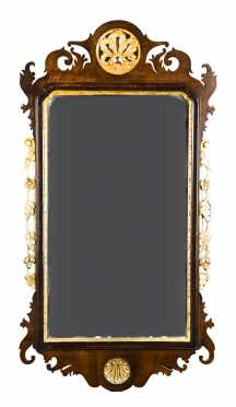 Shell Carved Chippendale Mirror