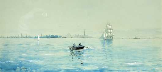 Edmund Darch Lewis PA, (1835-1910), Newport Harbor