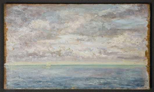 Plein Air Seascape, Oil on board, 19th/20thC