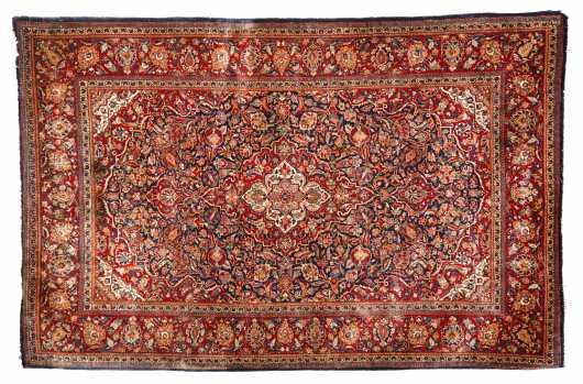 Kashan Oriental Rug Scatter Size Rug