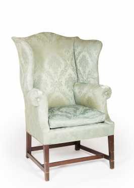 Hepplewhite Mahogany Wing Chair