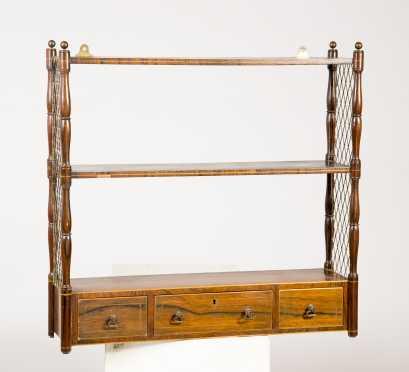 Rosewood Sheraton Hanging Shelf