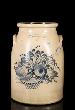 J.S. Taft Six Gallon Stoneware Butter Churn