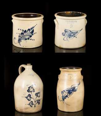 J.S. Taft Four Pieces of Stoneware