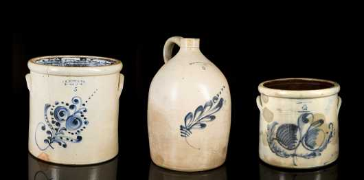 J.S. Taft Three Pieces of Stoneware