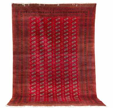 Pakistani Bokhara Room Size Oriental Rug