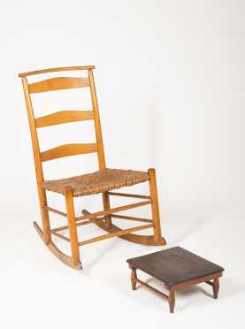 Shaker #3 Rocker and Footstool