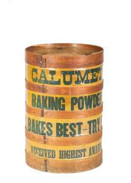 """Calumet"" Baker Powder Displays Barrel"