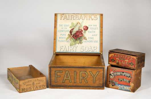Lot of Four Country Store Boxes