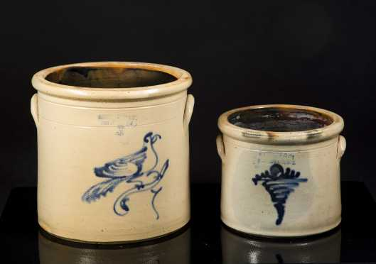 Two Stoneware Crocks