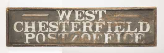 """West Chesterfield Post Office"" Sign (N.H.)"