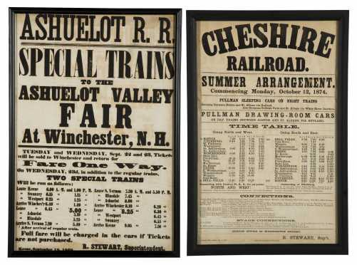Two Railroad Broadsides from Southwestern NH