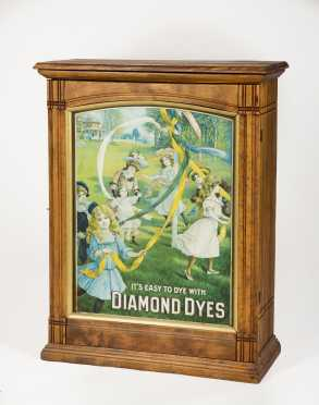 """Diamond Dyes"" Country Store Cabinet"