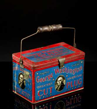 """George Washington Cut Plug"" Tobacco Carry Tin"