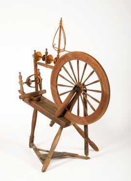 E19thC Flax Wheel