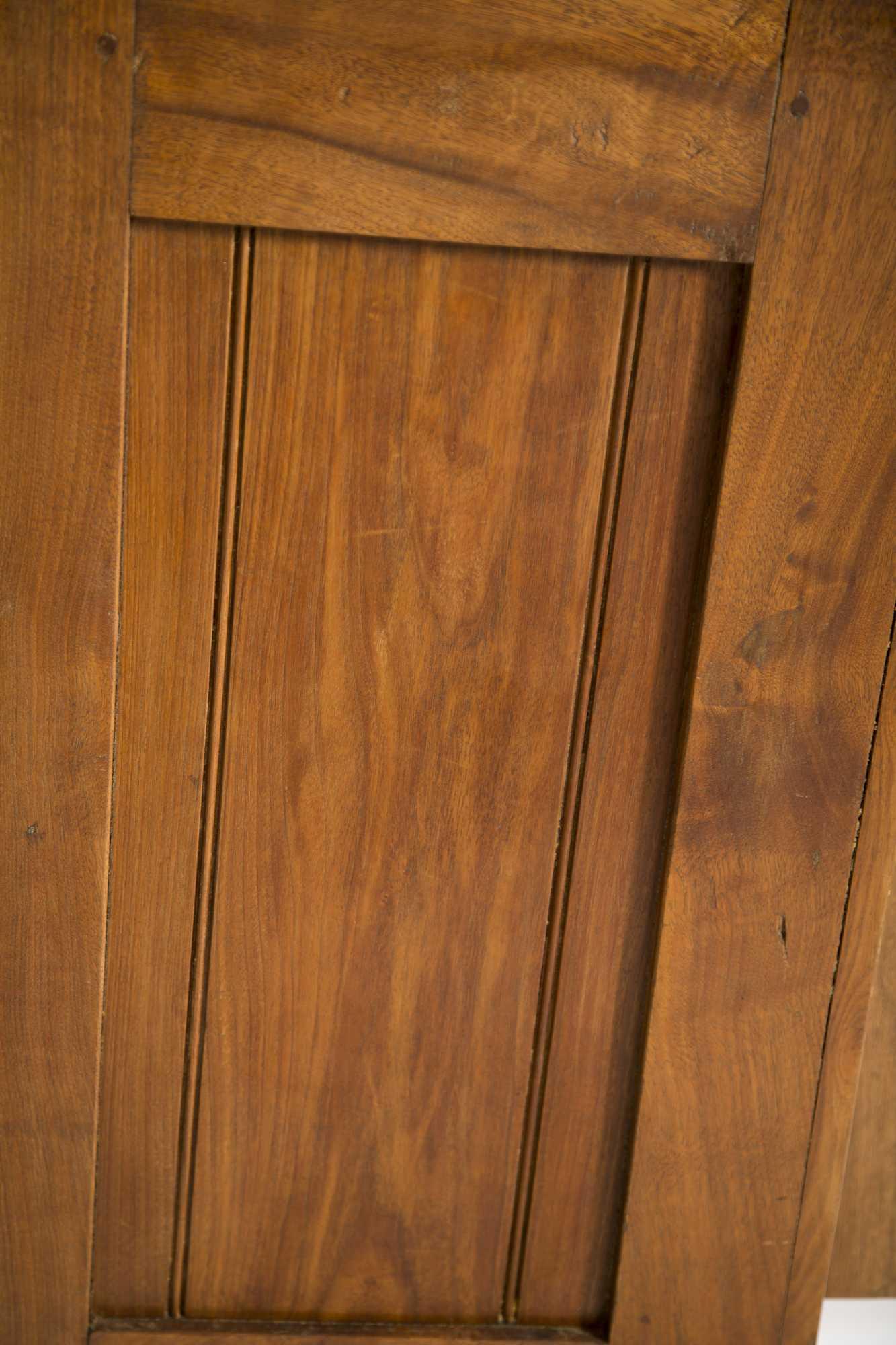 Walnut Stepback Two Section Cupboard