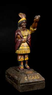 "Carved ""Cigar Store Indian"" Countertop Figure"