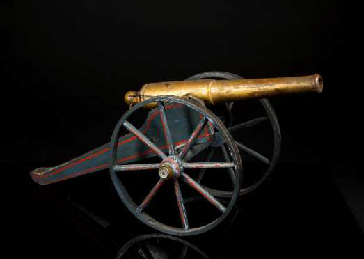 """Schoenhut"" Painted wood Toy Civil War Cannon"