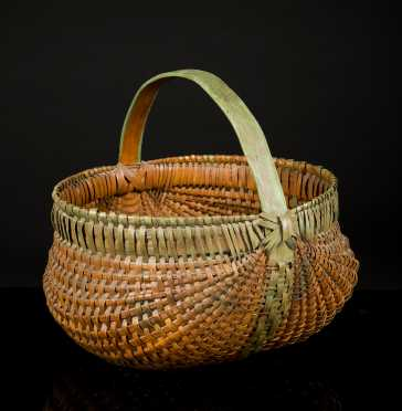 Painted Early Buttocks Basket