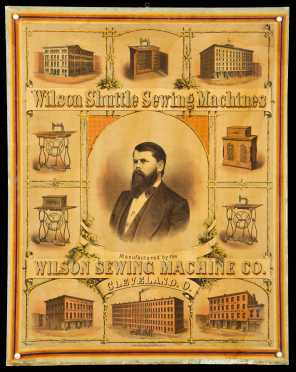 """Wilson Shuttle Sewing Machines"" Lithograph Broadside"