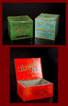 Three Country Store Tea Tin Containers