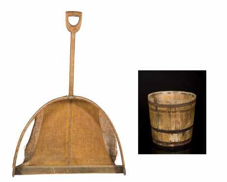 Shaker Grain Shovel and Sap Bucket