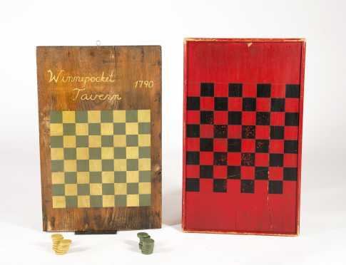 Two Painted Checkerboards