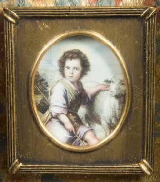 Continental Miniature Painting on Ivory
