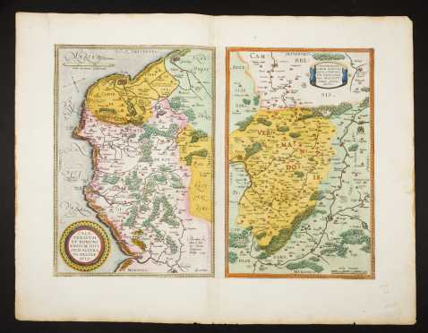 Two 16thC Colored Continental Maps