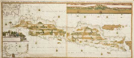 Gerard Van Keulen, Dutch, E18thC Map of Java