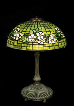 Tiffany Studios Belted Dogwood Table Lamp