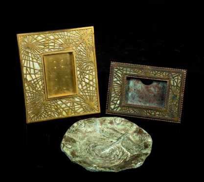 Lot of Three Tiffany Studios Pieces