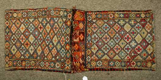 Pair of Sumac Oriental Rug Saddle Bags