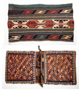Pair of Kalim Saddle Bags and a Kalim Piece