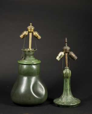 Two Hampshire Pottery Lamp Bases