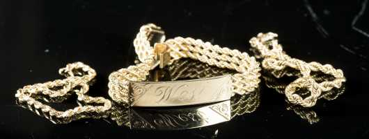 Three 14kt Yellow Gold Rope Bracelets